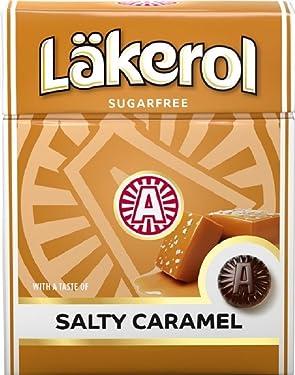 4cajas x 25g de läkerol Salty Caramel–Stevia–Original–Swedish–Salty Licorice–Salmiak–Sugar Free–Regaliz–Regaliz–Pastilles–lozenges–Gotas–Dragees–Caramelos–Caramelos