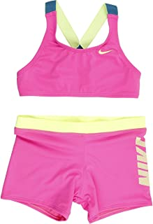 Nike Kids Girl's Rift Prism Cross-Back Bikini and Shorts (Little Kids/Big Kids)