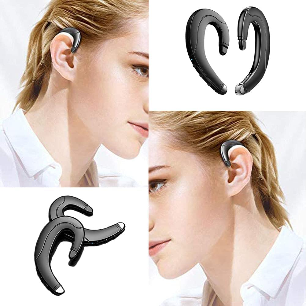 Ear-Hook Wireless Bluetooth Headset, Without Earplugs, Not Bone Conduction, Painless Waterproof Headset, Can Be Connected to Mobile Phones, Suitable for Business/Office/Sports