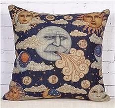 Bnitoam Ancient Egyptian Wall Paintings Retro Sun god Moon god Throw Pillow Case Cushion Cover Decorative Cotton Blend Linen Pillowcase for Sofa 18X 18 (5)
