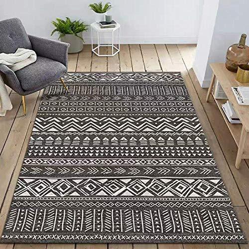 HXJHWB Area Rugs Living Room Bedroom - Simple geometric 3D printing household carpet, modern living room, study room, short pile, stain resistance-120CMx160CM