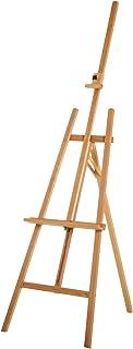 Chevalet d'artiste sur pieds inclinaison et hauteur réglable dim. 65L x 68l x 174-230H cm bois de hêtre clair