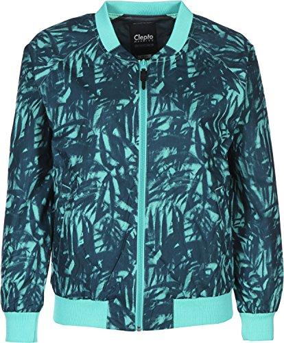 Cleptomanicx Leaves Bomber All Season Damen Jacke Dusty Turquoise L