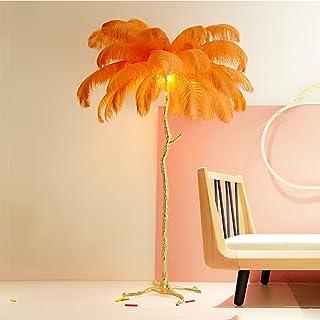 yanzz Lampadaire en Plumes, lampadaire Nordique Tout en cuivre E27, lampadaire de Type Arbre, décorer Le Salon, la Chambre...