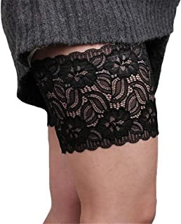 BaronHong 2 pcs Elastic Anti-Chafing Thigh Bands Lace- Prevent Thigh Chafing