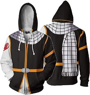 Full Zip-Up Hooded Sweatshirts Fairy Tail Anime Jacket Long Sleeve Cosplay Clothings
