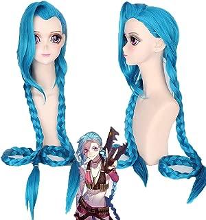 League Of Legends Cosplay Wig, LOL Runaway Lolly Jinx Masquerade Halloween Party Wig - Blue