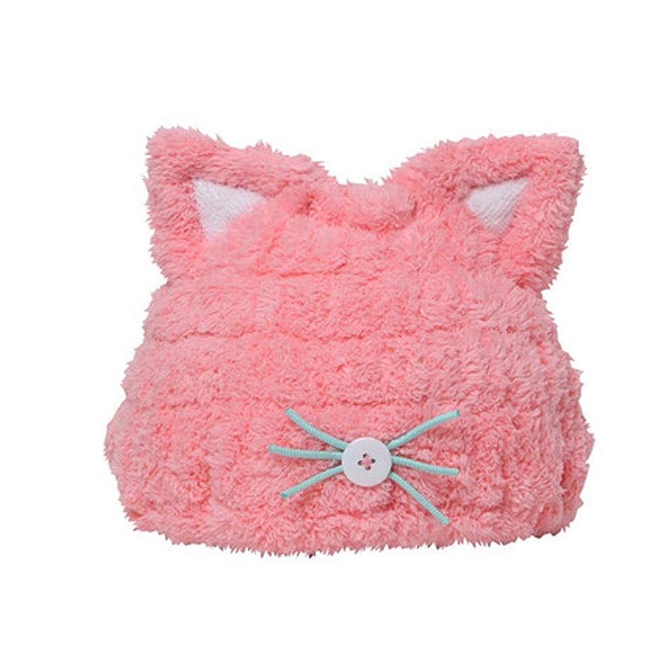 解体する冷蔵するホースシャワーキャップ、女性用ドライシャワーキャップデラックスシャワーキャップレディすべての髪の長さと厚さ防かび、再利用可能なシャワーキャップ。 (Color : Pink)