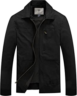 Men's Cotton Military Casual Lightweight Windbreaker Lapel Jacket