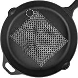 Cast Iron Cleaner 8''x6'' 316L Premium Stainless Steel Chain Scrubber for Cast Iron Pan Pot Dutch Ovens Skillet Grill Cleaning