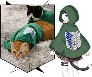 Pet Costume Cat Dog Cosplay Attack on Titan Anime Cartoon Plush Cloak Scouting Legion Freedom Cloak Cape Pet Costumes