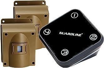 Guardline Wireless Driveway Alarm Outdoor Weather Resistant Motion Sensor & Detector- Best DIY Security Alert System (one ...