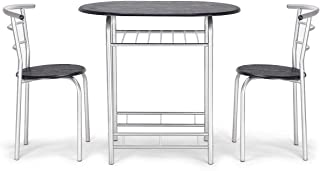 Bistro Dining Set Table and 2 Chairs Kitchen Furniture Pub Home Restaurant 3PCS
