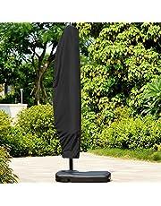 ATopoler Funda Protectora de Sombrilla Cubierta Sombrilla para Exteriores Impermeable Resistente Protección UV Ajustable Protectora para Parasol de Jardín Patio