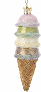 Kurt-Adler Glass Ornament with S-Hook and Gift Box, More Food Collection (Stacked Ice Cream)
