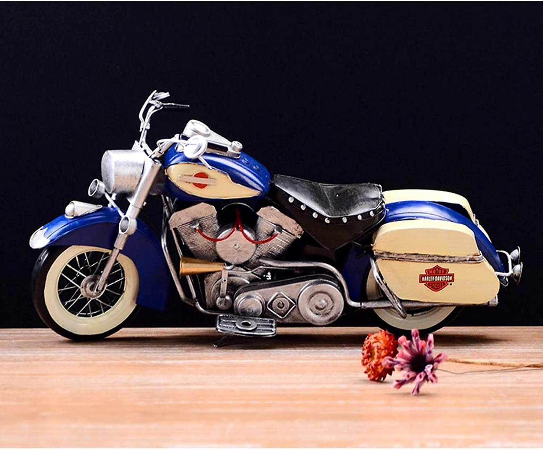 comprar marca PENGJIE-Model Modelo de Moto 1 1 1 18 Retro Vintage Lata Modelo de la Motocicleta Hecha a Mano del Arte del Hierro Decoraciones del hogar Regalos (Color   azul)  ventas al por mayor