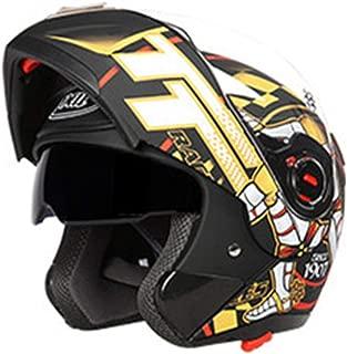 SXC Cascos de Motocross de Cara Completa Profesional Anti Niebla Protecci/ón UV Casco Protector de Color Motocross Cl/ásico Mujer Hombre Adultos con Doble Visera