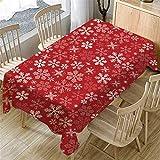 Nappe de Noël 95sCloud Nappe rectangulaire en lin de coton, convient pour la décoration de la cuisine, 140 x 80 cm Nappe de Noël, linge de table