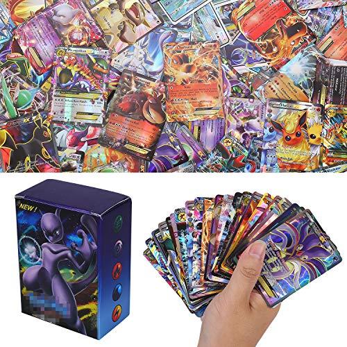 YNK 100 Stücke Sack Karten Sonne & Mond Series GX Karten Energy Trainer Karten (80EX + 20Mega)