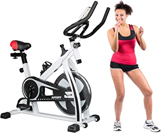 LifeCORE Fitness Pro Indoor Cycling Bike Trainer, Indoor Exercise Bike Stationary Exercise LED Display Bicycle 5 Adjustable Level