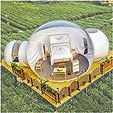 LFDHSF Tienda Familiar para Acampar en el jardín, cúpula Garden Igloo 360, Tienda de Burbujas Inflable Transparente Lujosa de Doble túnel al Aire Libre