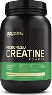 Optimum Nutrition Micronized Creatine Monohydrate Powder, Unflavored, Keto Friendly, 400 Servings (Packaging May Vary)