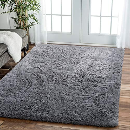 Modern Indoor Comfortable Soft Shaggy Fur Fluffy Area Rug $12.99 (55% Off with code)