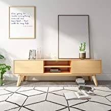 Modern Media Console TV Stand Home Furniture Video Gaming Consoles Wooden Wide Entertainment Stand with Cabinet Doors and ...