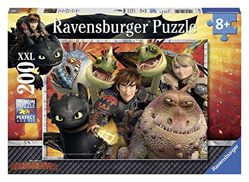 Ravensburger Kinderpuzzle 12812 - Hicks, Astrid und die Drachen - 200 Teile