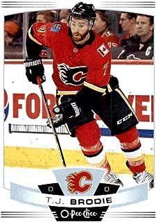 2019-20 O-Pee-Chee #138 T.J. Brodie Calgary Flames NHL Hockey Trading Card