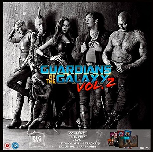 Guardians Of The Galaxy Vol. 2 Big Sleeve Edition Blu-Ray and DVD. Includes 12