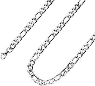 16 Inches To 30 Inches Figaro Chain Necklace 4MM To 8.5MM Stainless Steel Figaro Link Chain for Men Women