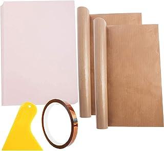 SOGA LIFE Papel de sublimación imprimible de 100 hojas de transferencia de calor camiseta de color claro para planchar de ...