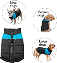 S-Lifeeling Cold Weather Dog Coat Jacket Padded Vest Ski Suit,Pet Winter Clothes for Small Medium Large Dogs,8