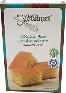 Heartland Gourmet Gluten Free Cornbread Mix - Buttery and Chewy- Certified Gluten Free Ingredients - All Purpose - Safe for Celiac Diet