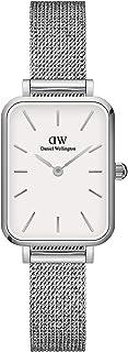 Daniel Wellington Quadro Sterling Watch, Silver Mesh Bracelet, 20x26mm