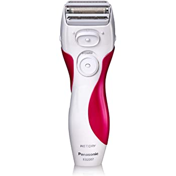Panasonic Electric Shaver for Women, Cordless 3 Blade Razor, Pop-Up Trimmer, Close Curves, Wet Dry Operation, Independent Floating Heads - ES2207P