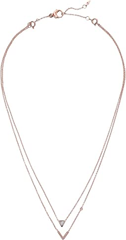 Fossil - Triangle Howlite Double Strand Necklace