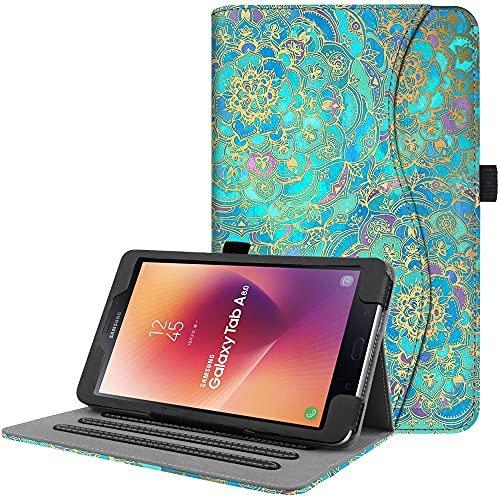 Funda para Samsung Galaxy Tab A 8.0 2017 Modelo T380/T385, soporte de visualización multiángulo con apagado automático para Galaxy Tab A 8.0 pulgadas SM-T380/T385 2017 lanzamiento, Galaxy