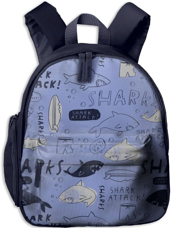 Pinta Happy Shark Cub Cool School Book Bag Backpacks for Girl's Boy's