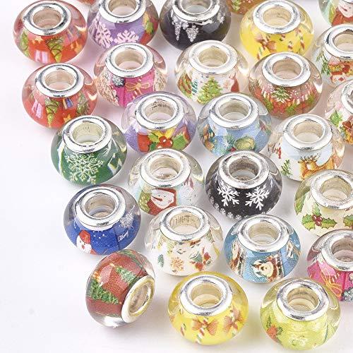 UR URLIFEHALL 100 cuentas espaciadoras de resina de 13,5 ~ 14 mm...