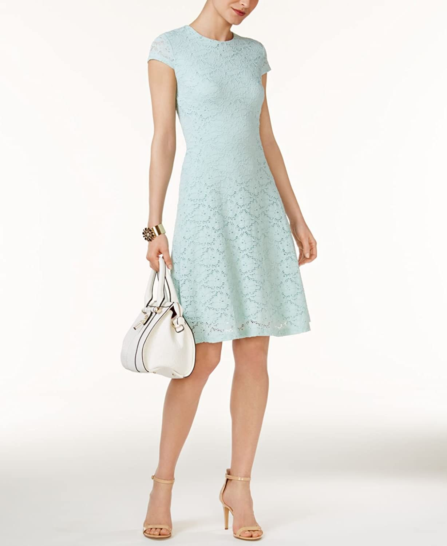 Alfani Womens Lace Cap Sleeves Casual Dress