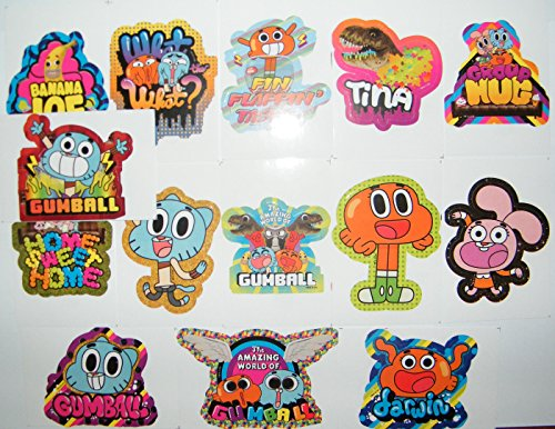 The Amazing World Of Gumball Party Favor Toy Sticker Set Of 15 With Gumball Darwin Banana Joe Tina The T Rex And Many More Buy Online In Sweden At Sweden Desertcart Com Productid 9412188