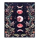 Materiale di qualità: l'arazzo da giardino illuminato dalla luna è realizzato al 100% in poliestere, offrendo un aspetto elegante e una morbidezza setosa al tatto! Leggero, tessuto morbido, delicato sulla pelle, cadente buono e resistente. Ampiamente...