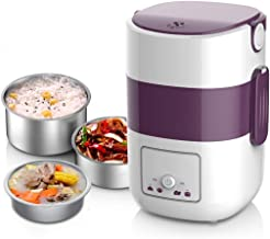 ZOUJUN Self Cooking Electric Box déjeuner, Multifonctions à Trois Couches Boîte électrique Déjeuner Chauffage d'appoint Dé...