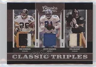 Deion Sanders; Mel Blount; Rod Woodson #12/25 (Football Card) 2010 Classics - Classic Triples - Jerseys Prime [Memorabilia] #7