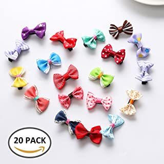 Wrighteu 20 Piezas Horquilla Mariposa Lazos Pelo Conjunto Pinza Cinta Diferente Colores Accesorio para Niña Bebé