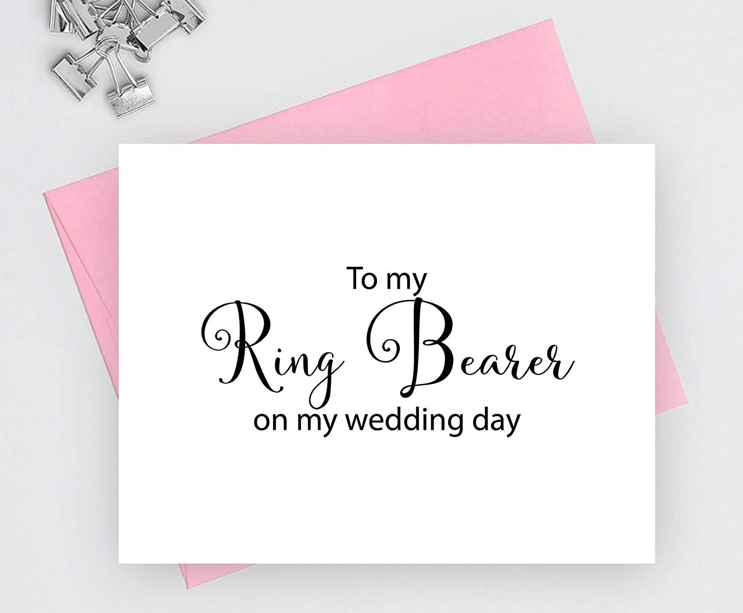 To my trust ring bearer on wedding day cards for 1 note f