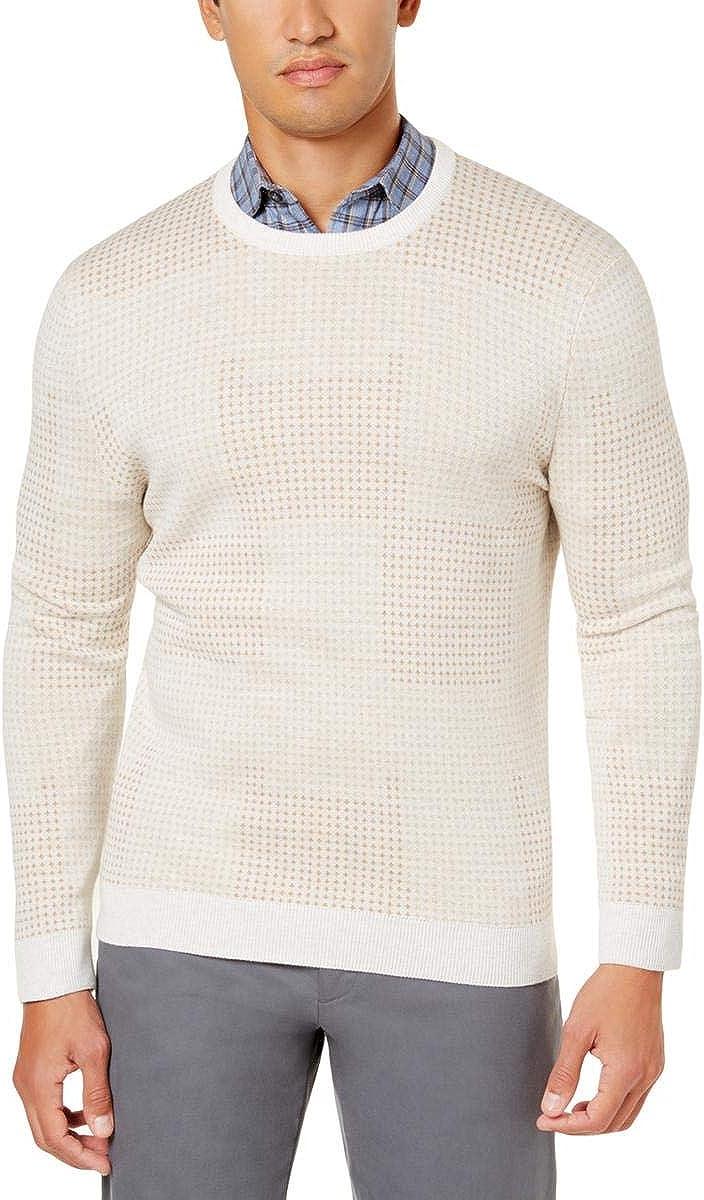 Tasso Elba Mens Dot Jacquard Pullover Sweater