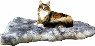 Gracefur Pet Bed Mat 100% Sheepskin Deluxe Dog Crate Pad Ultra Soft Durable Self Warming Kennel Mattress for Dogs and Cats